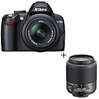 Nikon D3000 Digital Camera with 55-200mm lens