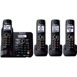 Panasonic KX-TG6644B 1.9 GHz Quad 1-Line Cordless Phone