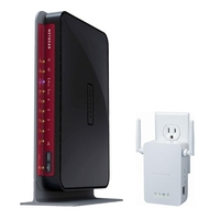 Netgear N600 Wireless Dual Band Gigabit Router with Universal Wi-Fi Range Extender WN3000RP Bundle (...