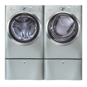 Electrolux Silver IQ Touch Front Load Washer and Steam ELECTRIC Dryer Laundry Set
