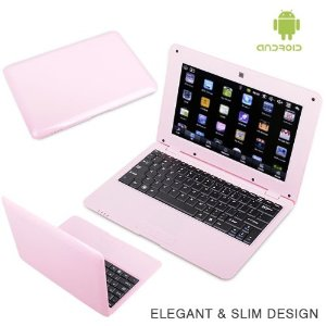 WolVol Android 4.0 PINK 10 inch Laptop